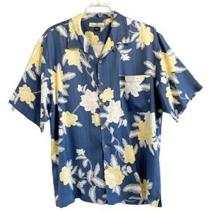 TOMMY BAHAMA Silk Button Front Aloha Floral Shirt